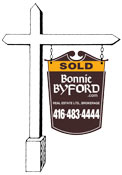 Bonnie Byford R.E. Ltd. SOLD SIGN